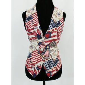 Vintage Patriotic 4th of July Vest